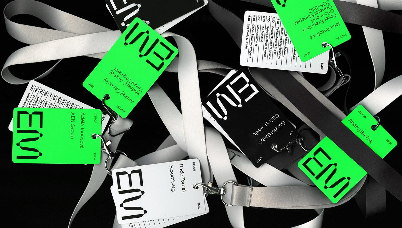battery conference energy festival Manifest neon storage visual identity motion