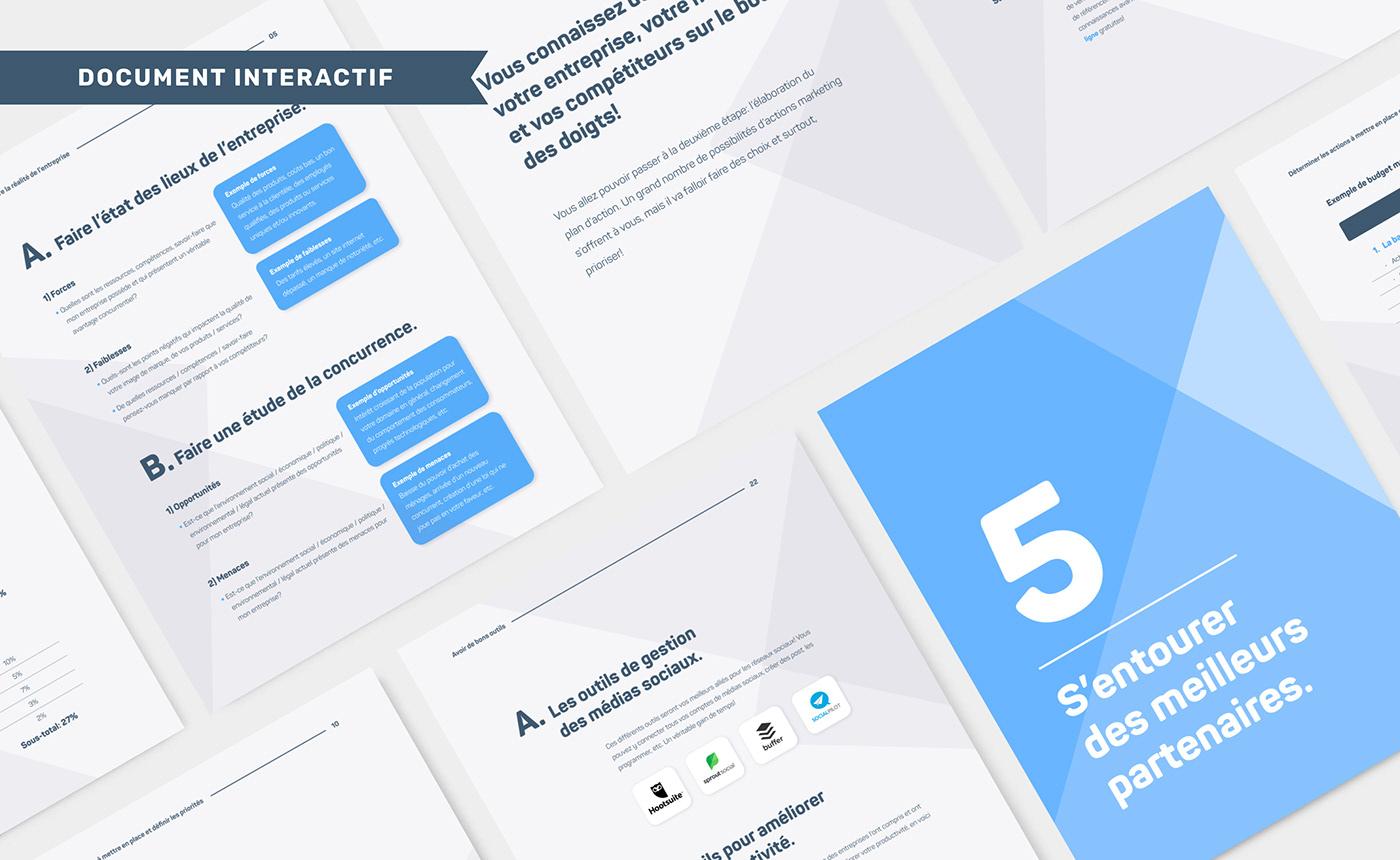 Document interactif (PDF) effectué pour B2B Quotes.