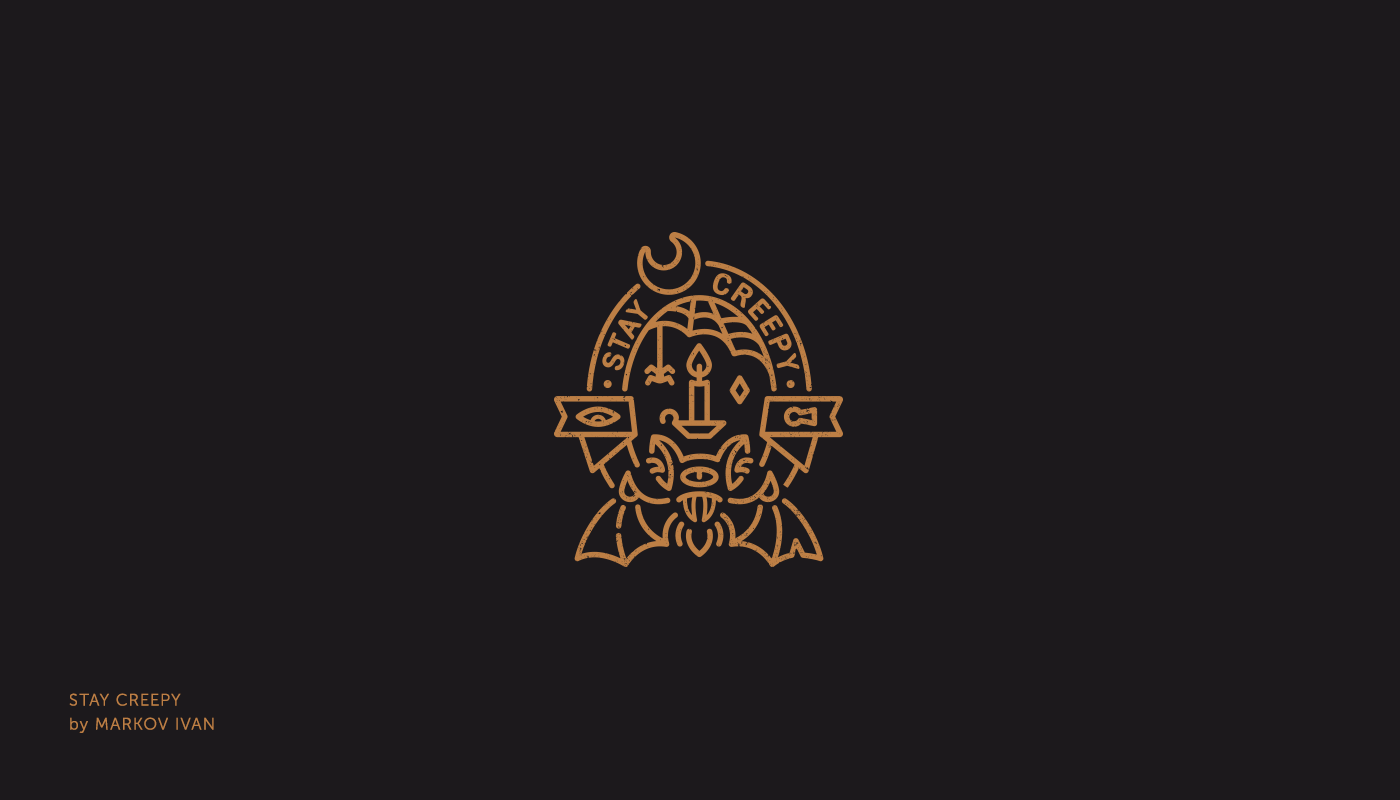 Halloween Logotype mark logo Collection lettering typography   logofolio ILLUSTRATION  logos