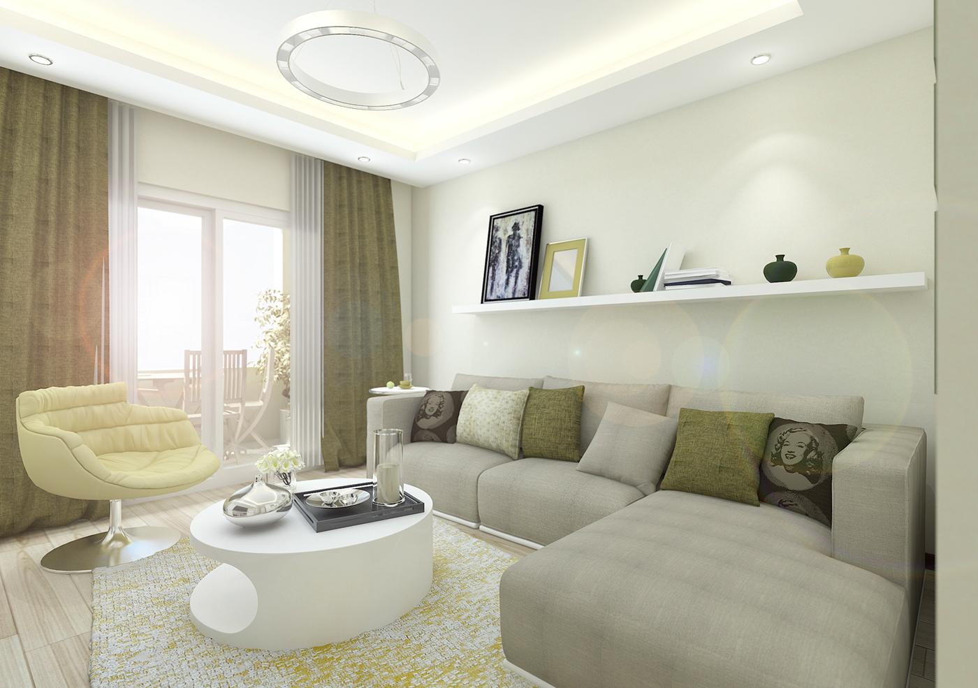 優質的34個客廳牆壁顏色欣賞