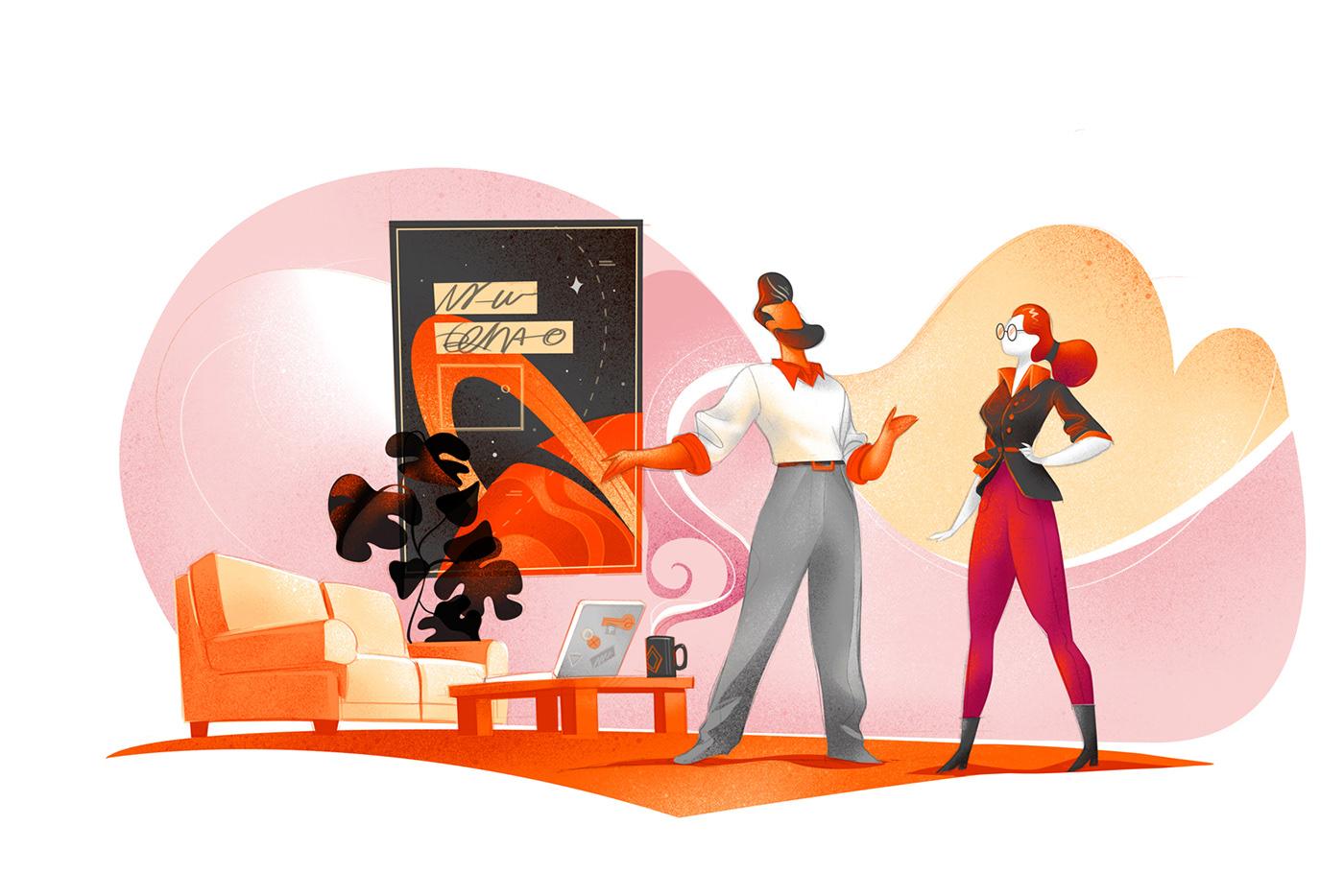homepage software house digital partner Startup Developers Website ILLUSTRATION