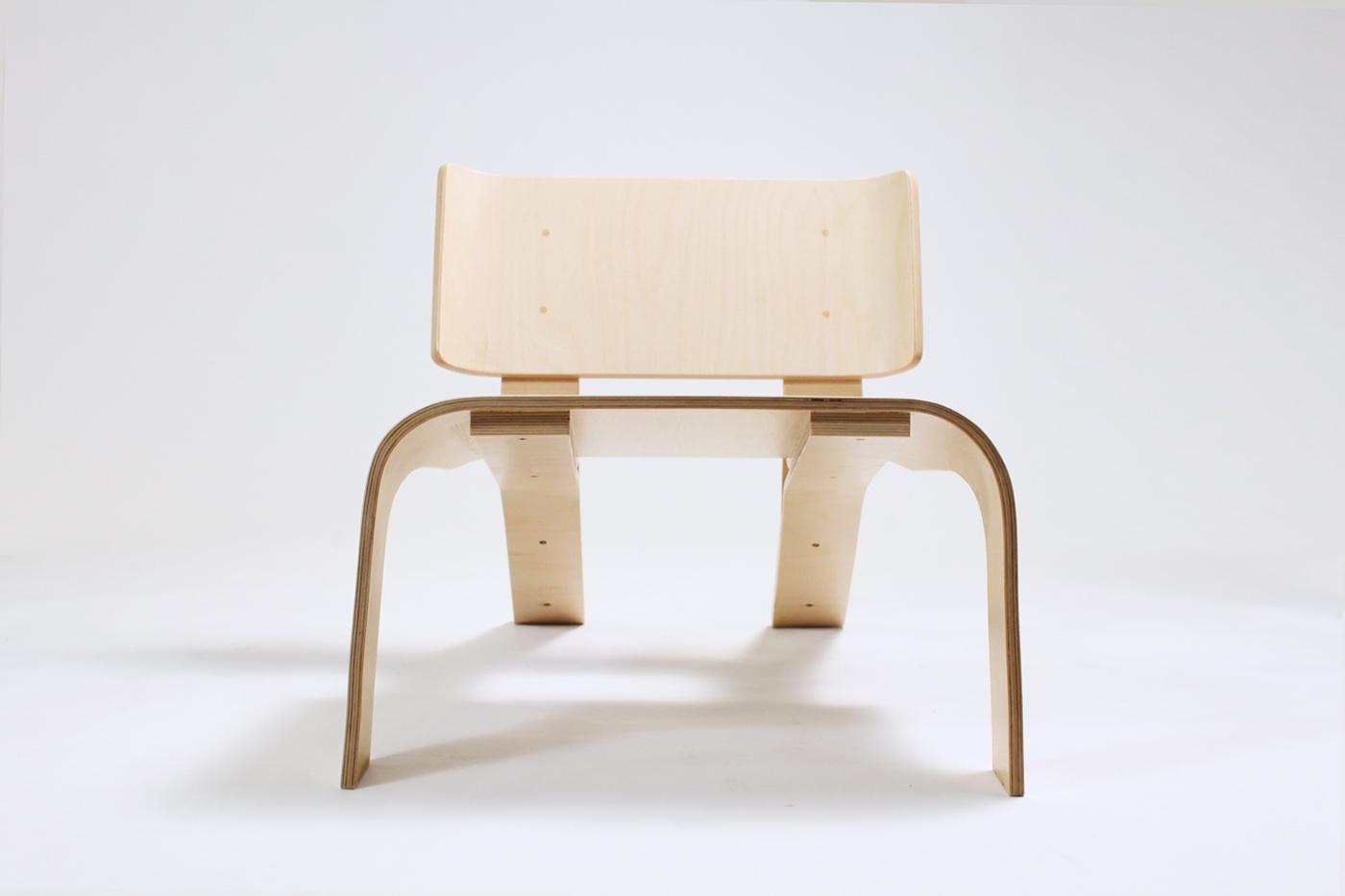 chair plywood bent wood molds lounge Georgia Tech Layup living room Baltic birch atlanta handmade