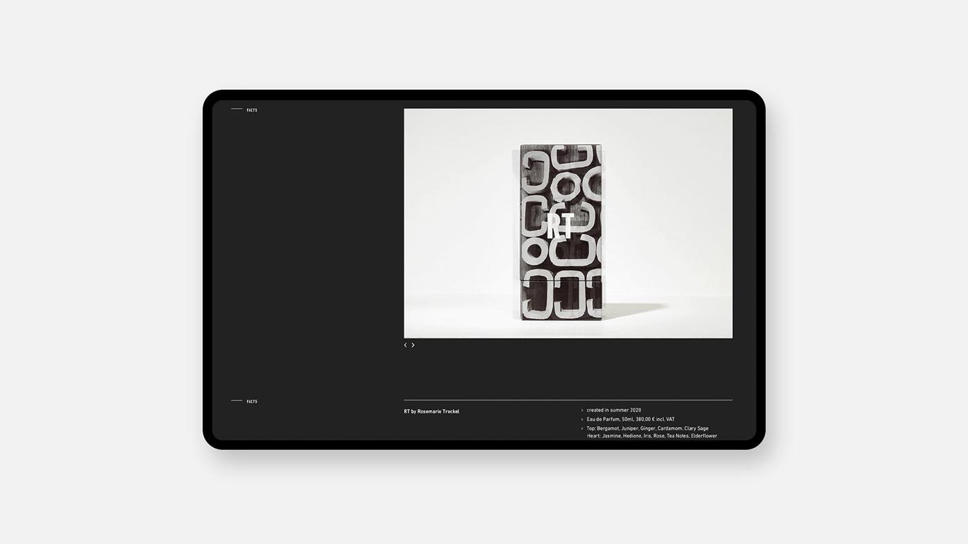 artists black contemporary artists grid minimal perfume perfumers swiss design Webdesign White