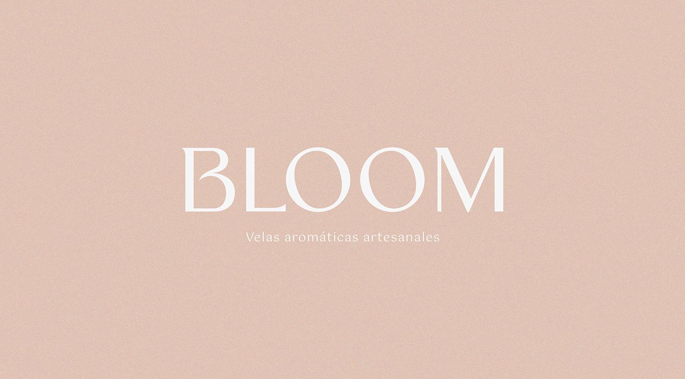 Logotipo tipográfico de la marca Bloom de velas aromáticas artesanales