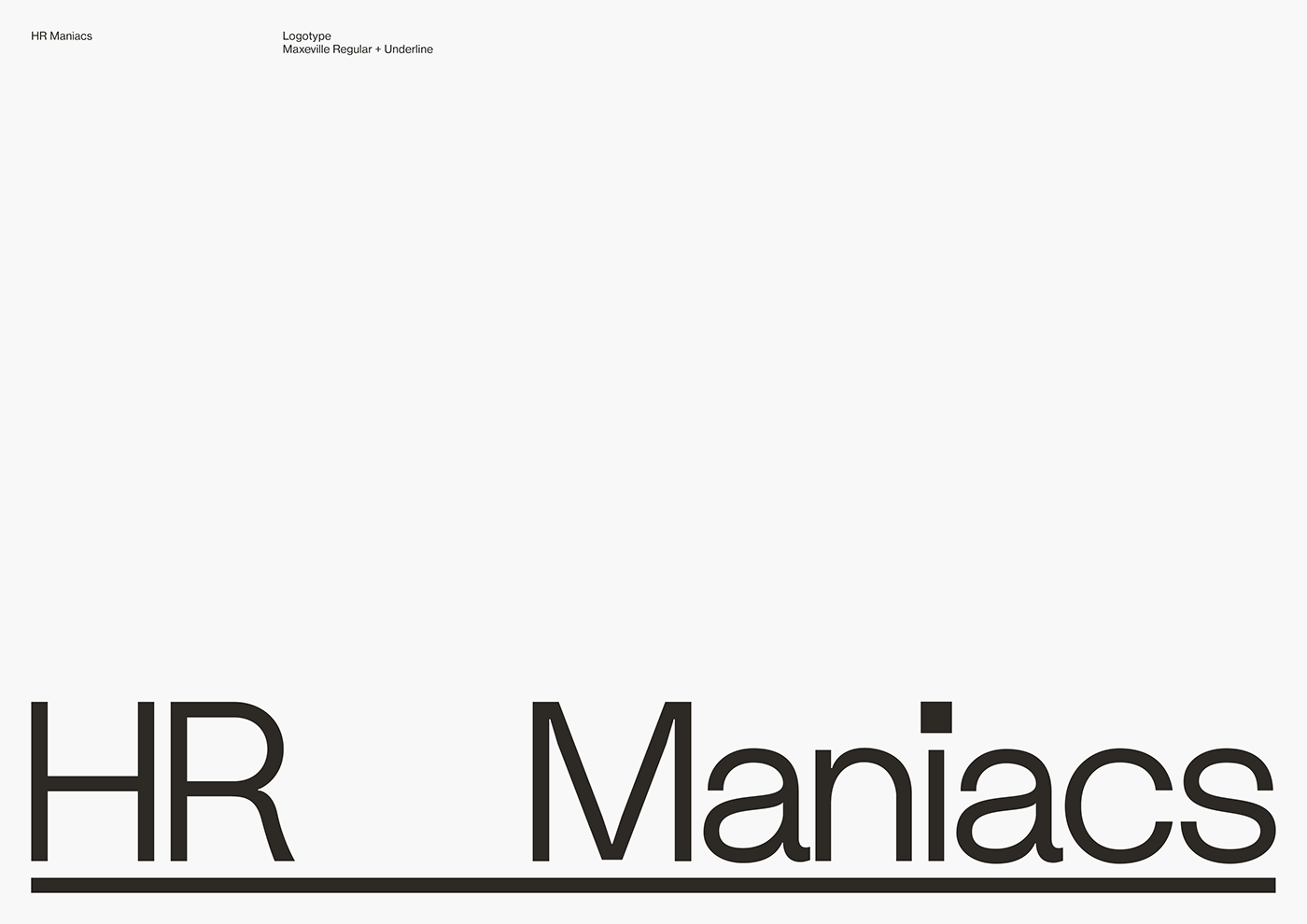 Logotype HR Maniacs in Maxeville typography
