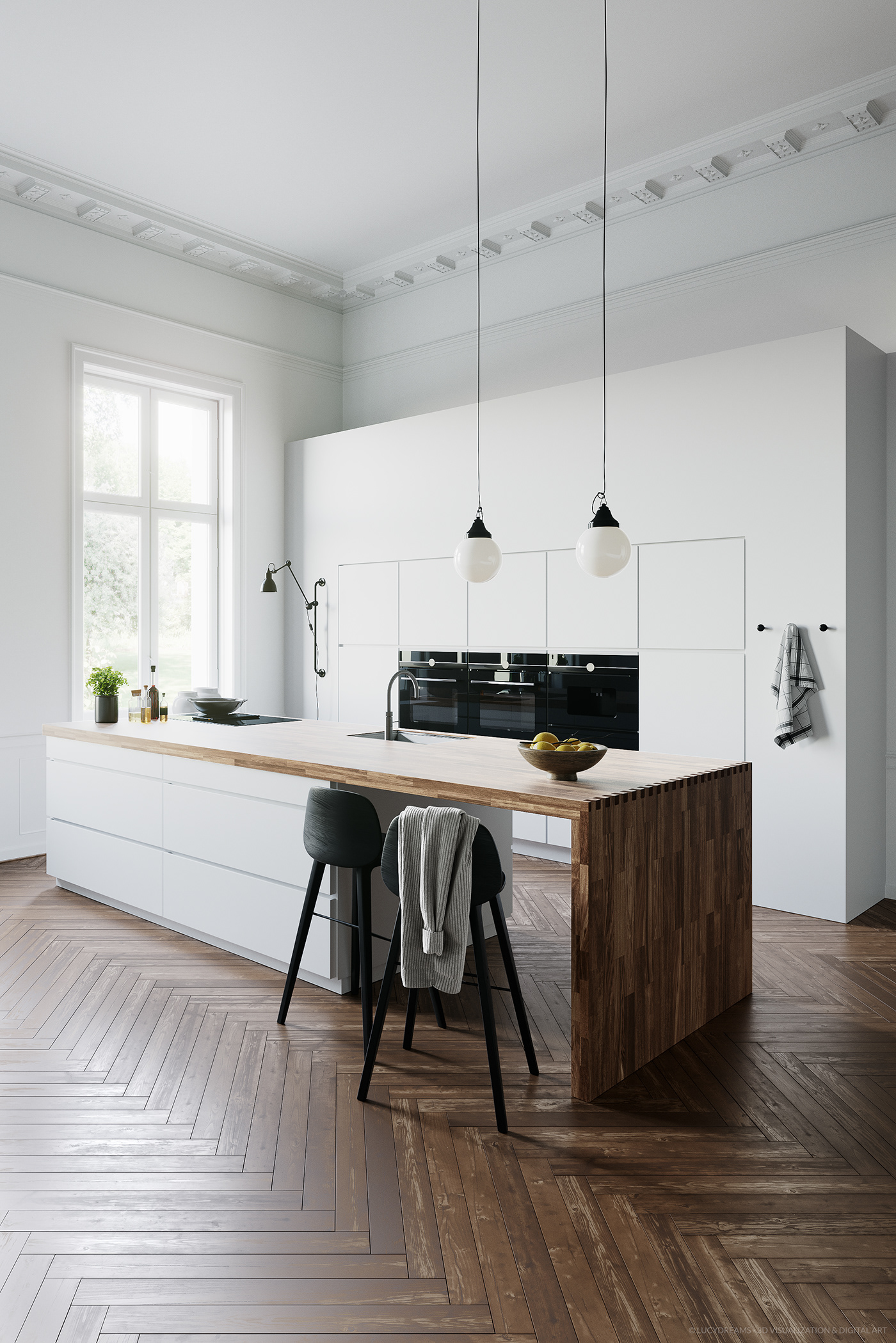 kitchen cinema4d coronarenderer rendering 3D archviz 3dscene interiordesign design Interior