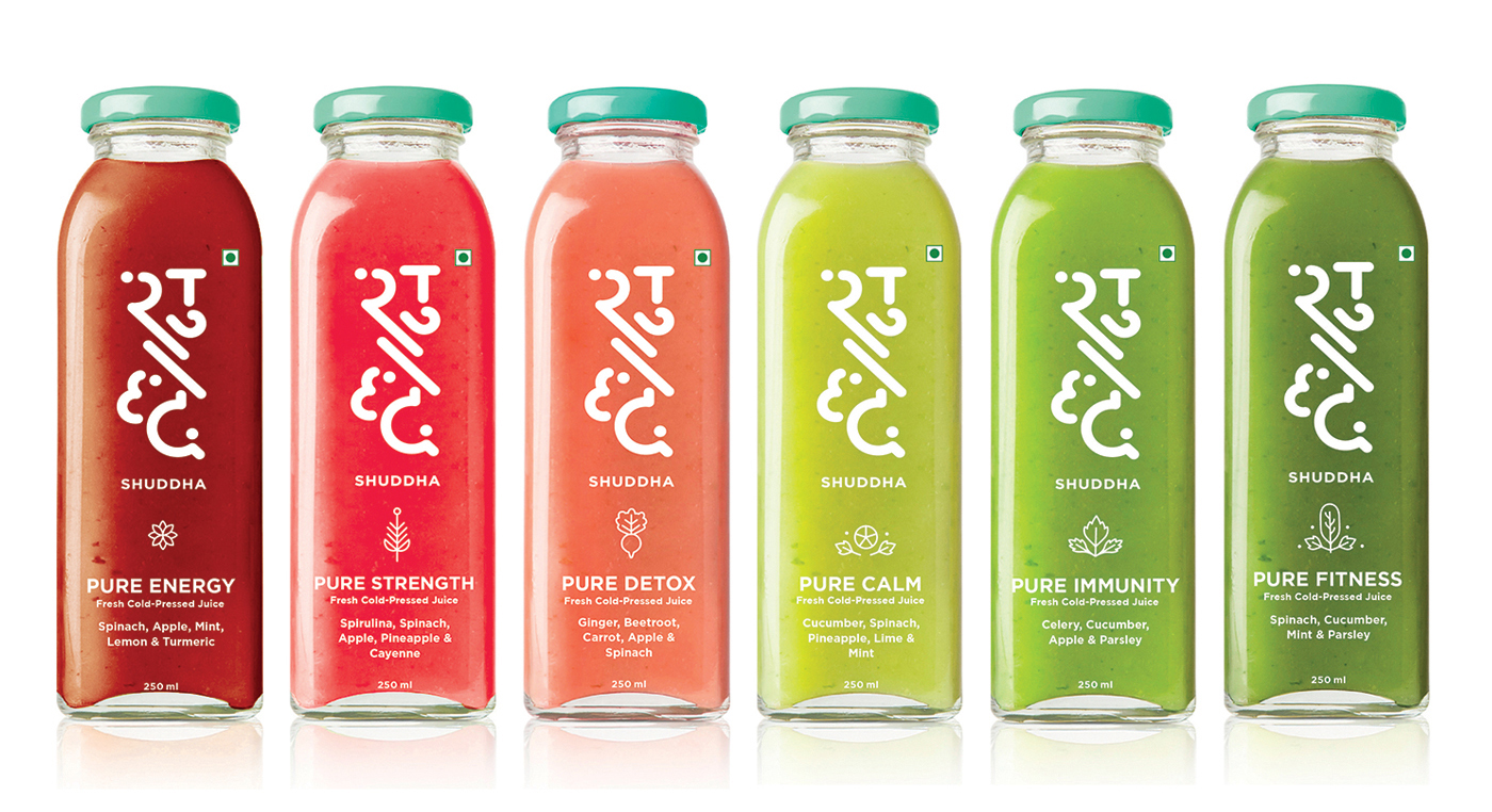 Shuddha Juice & Smoothie health Label Design By Ishita Jain