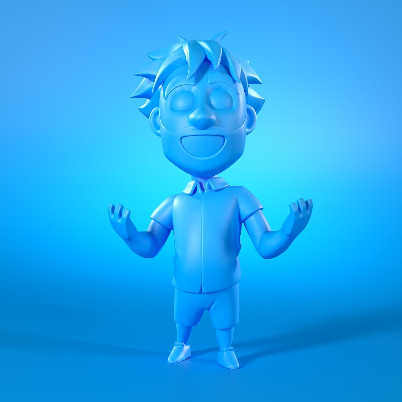 3D caricatura cartoon Character Mascot Modelagem modeling printable Zbrush