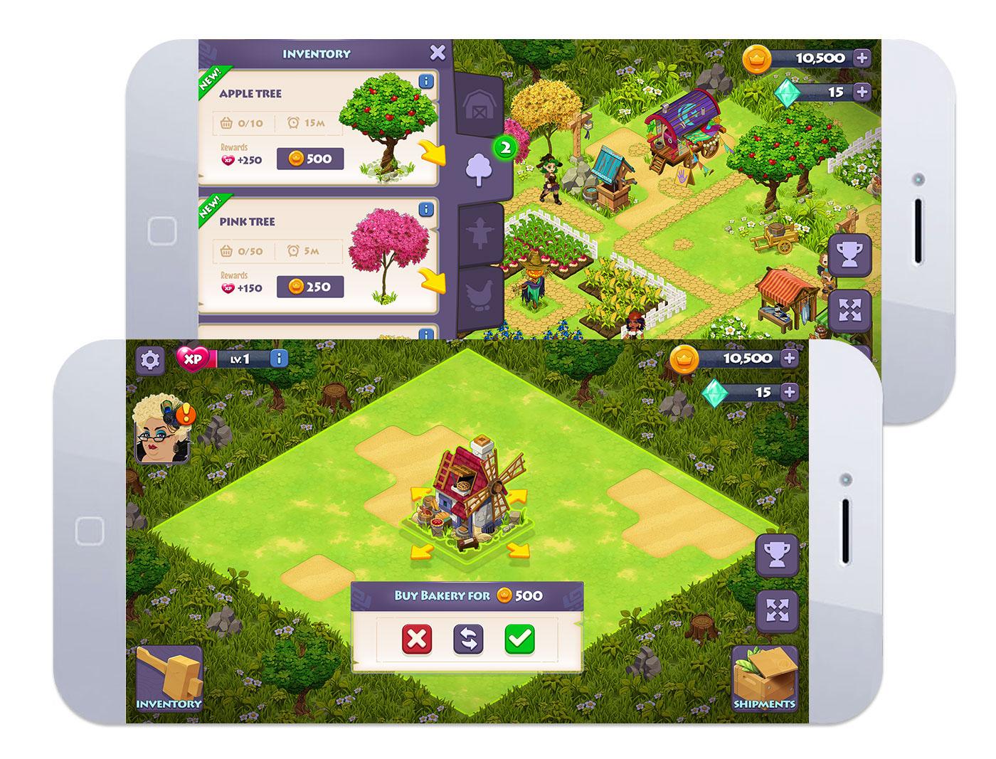 Game Art character art Isometric game farm