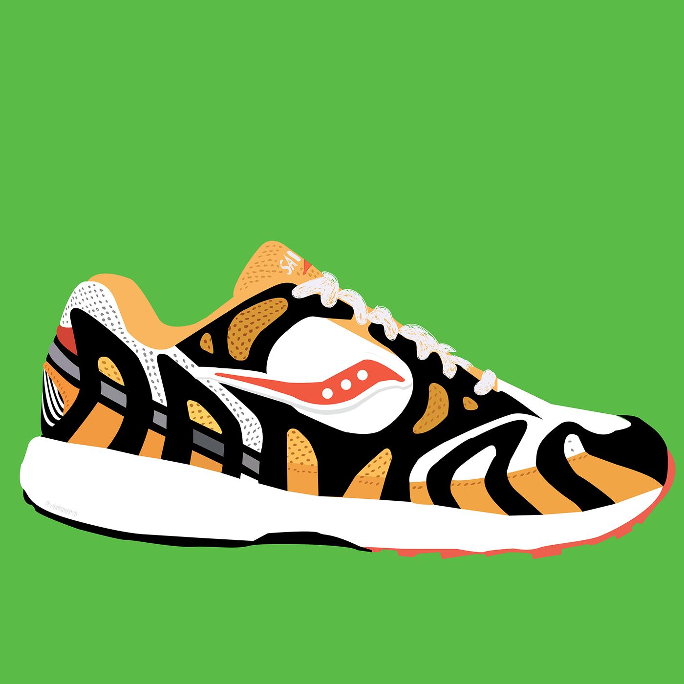 adidas,branding ,brands,designer,Fashion ,footwear,ILLUSTRATION ,Nike,saucony,vectorart