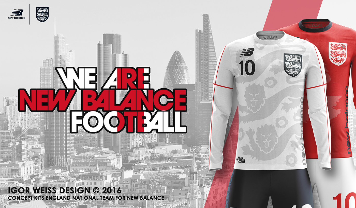 a1b65a03 ENGLAND ✕ NEW BALANCE CONCEPT KITS SOCCER-FOOTBALL on Behance