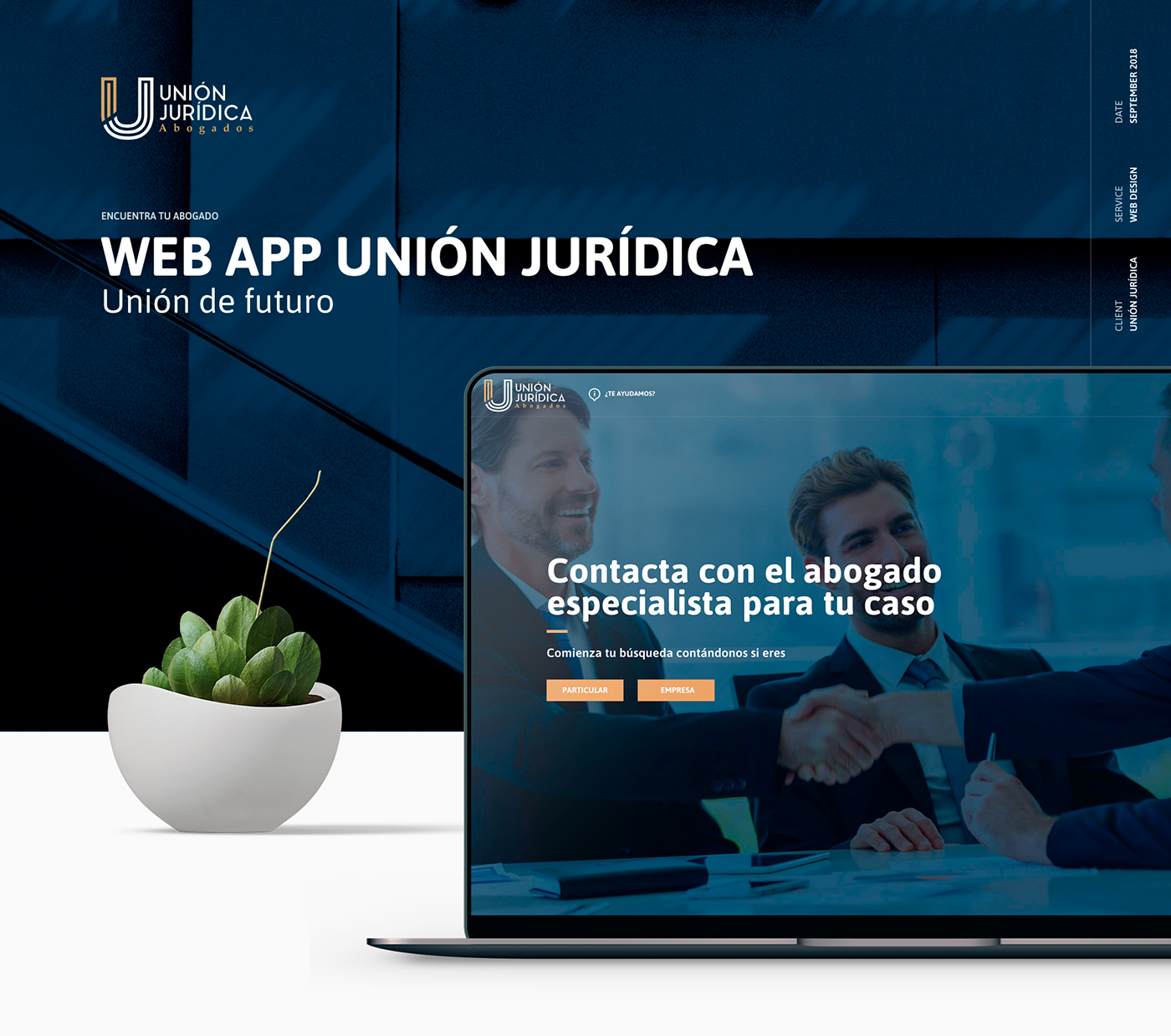 app web app lawyer blue gold clean Marketplace