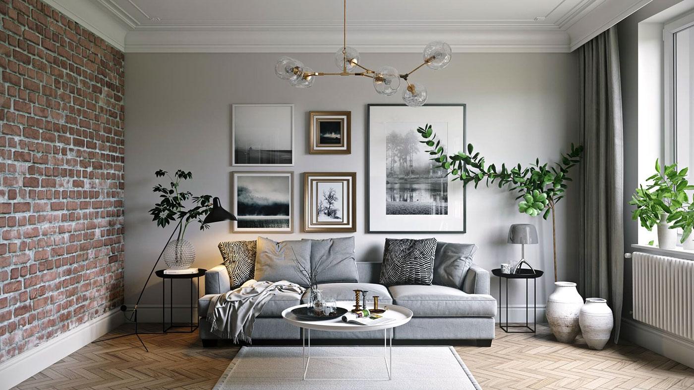 interior design render for an elegant living room on behance