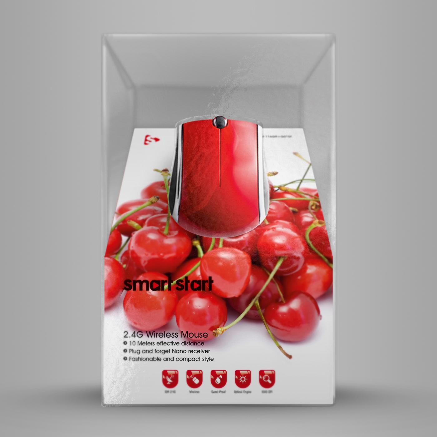 rot schwarz Weiss PC mouse wifi