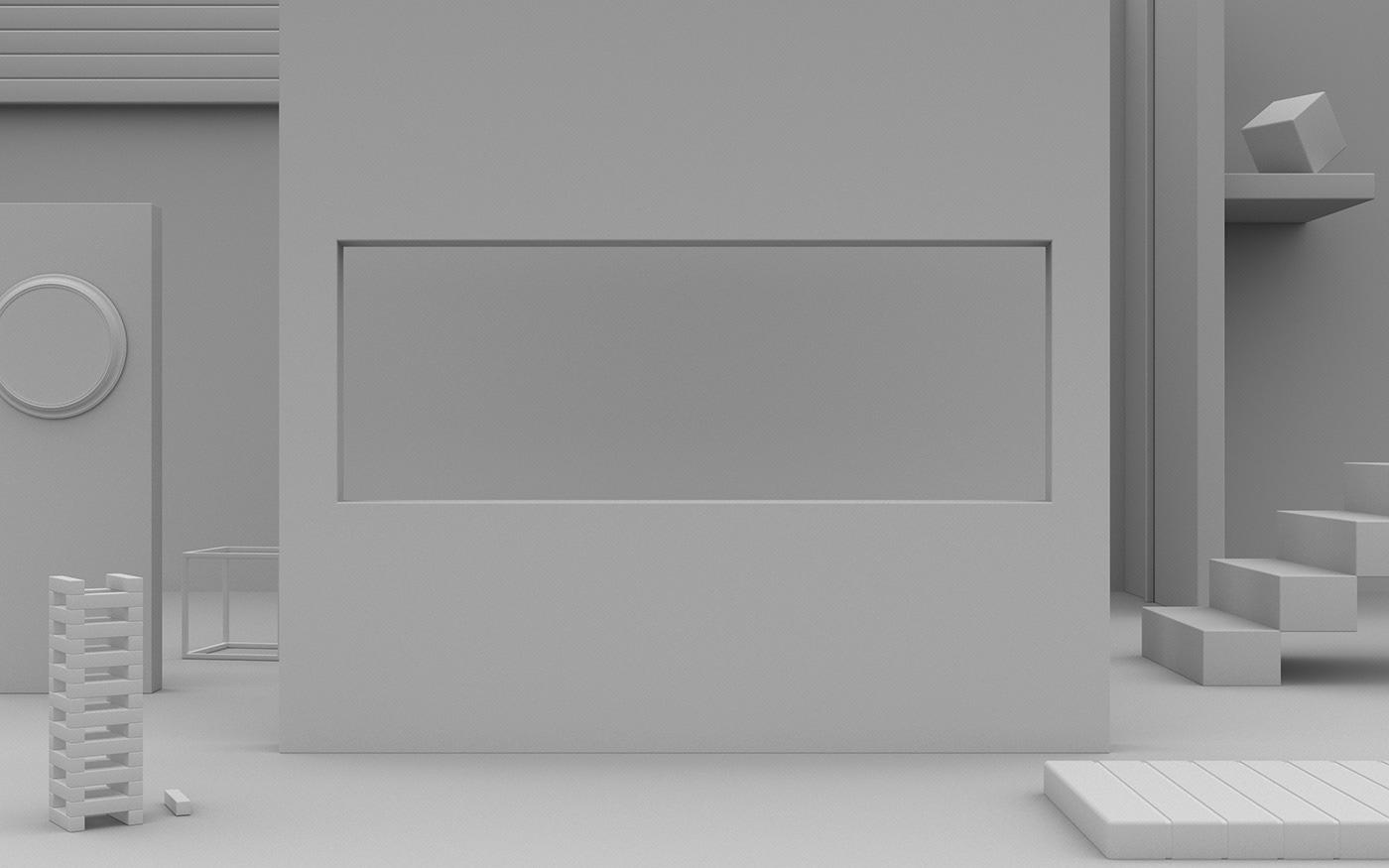 3D CGI cinema 4d vray Fashion  Interior Environmemt pastel colour visualisation