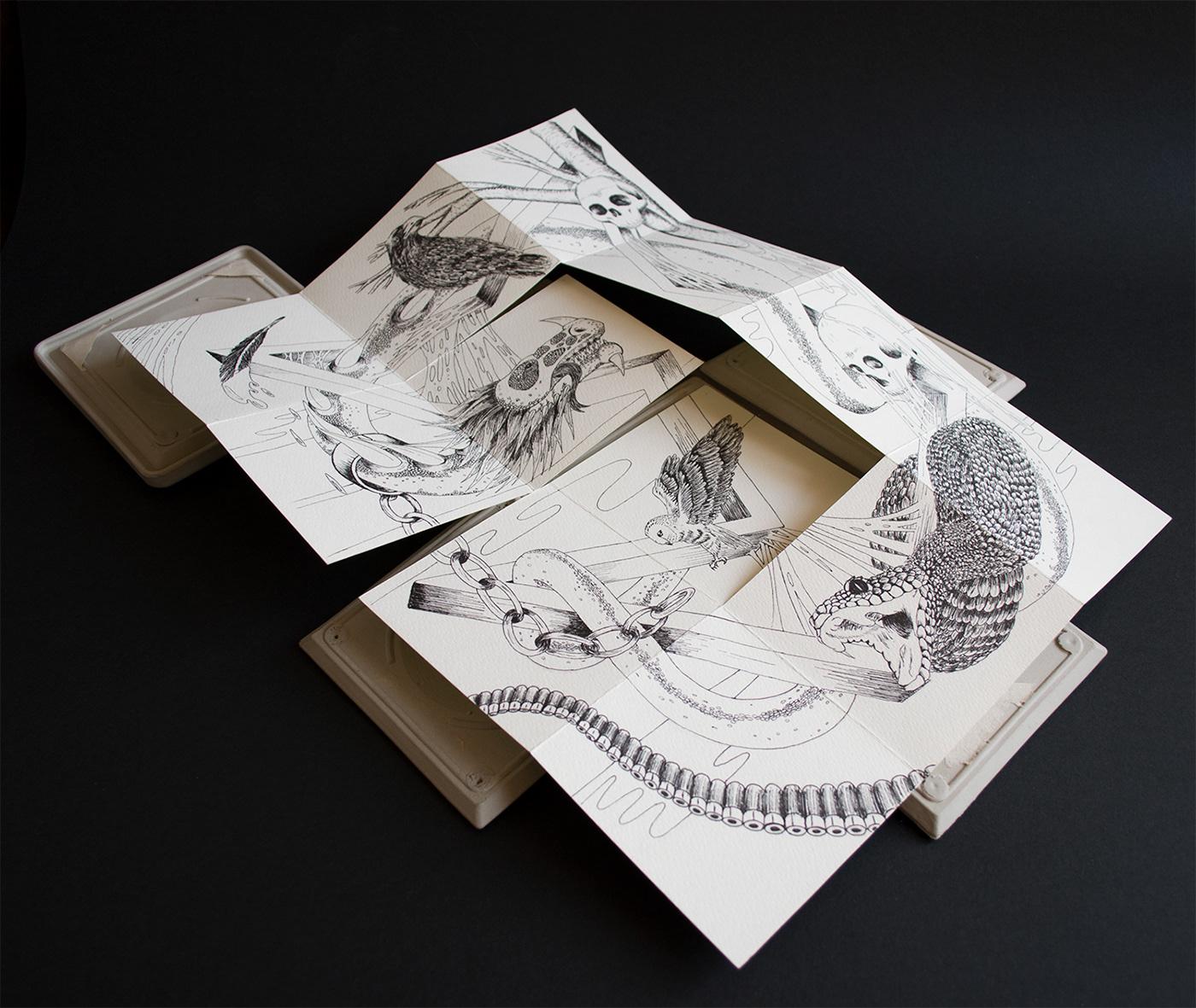 Caja pandora Guerra ilustracion dibujo ceramica ceramic libro de artista
