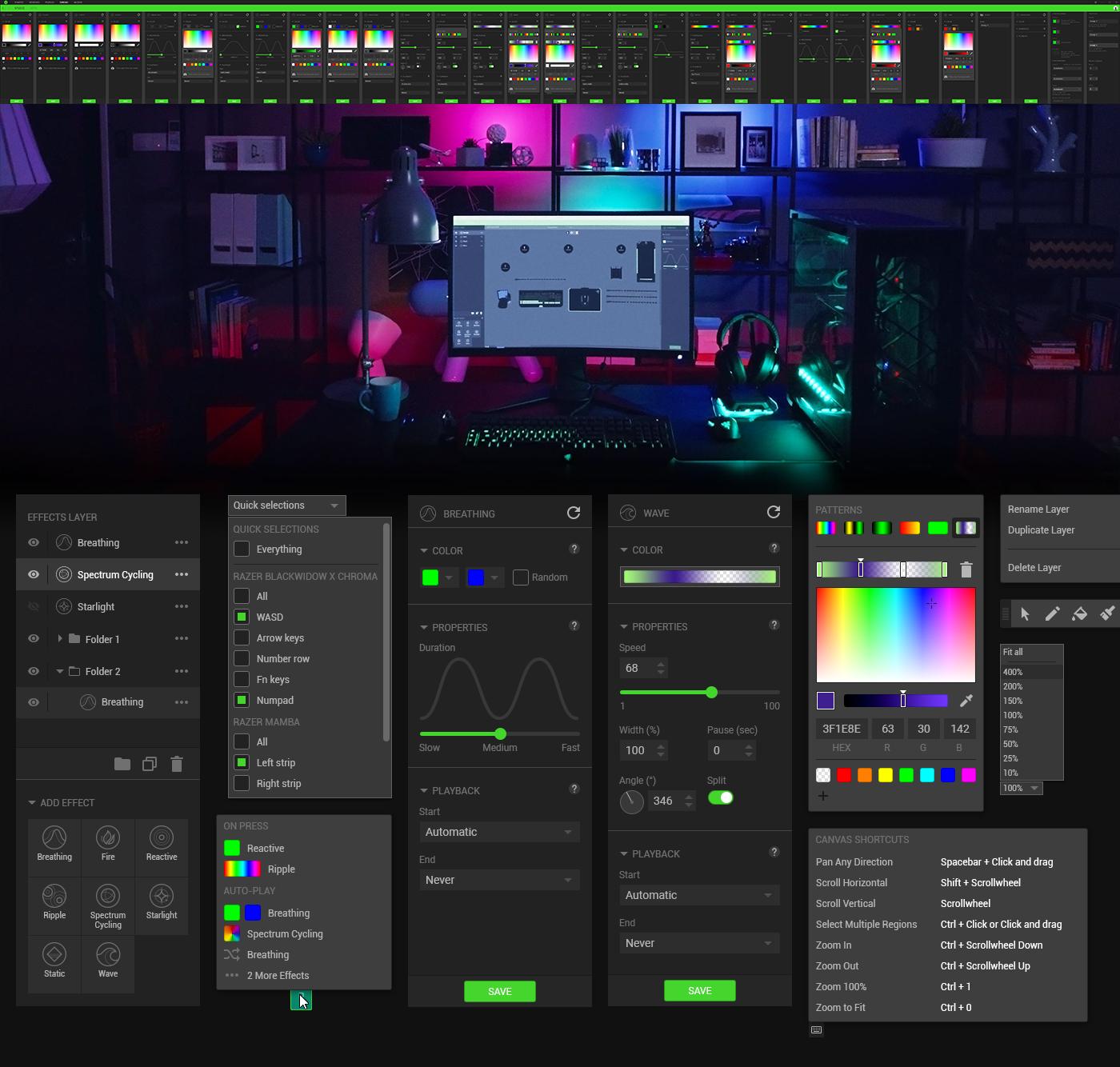 razer synapse peripherals software windows app chroma lighting