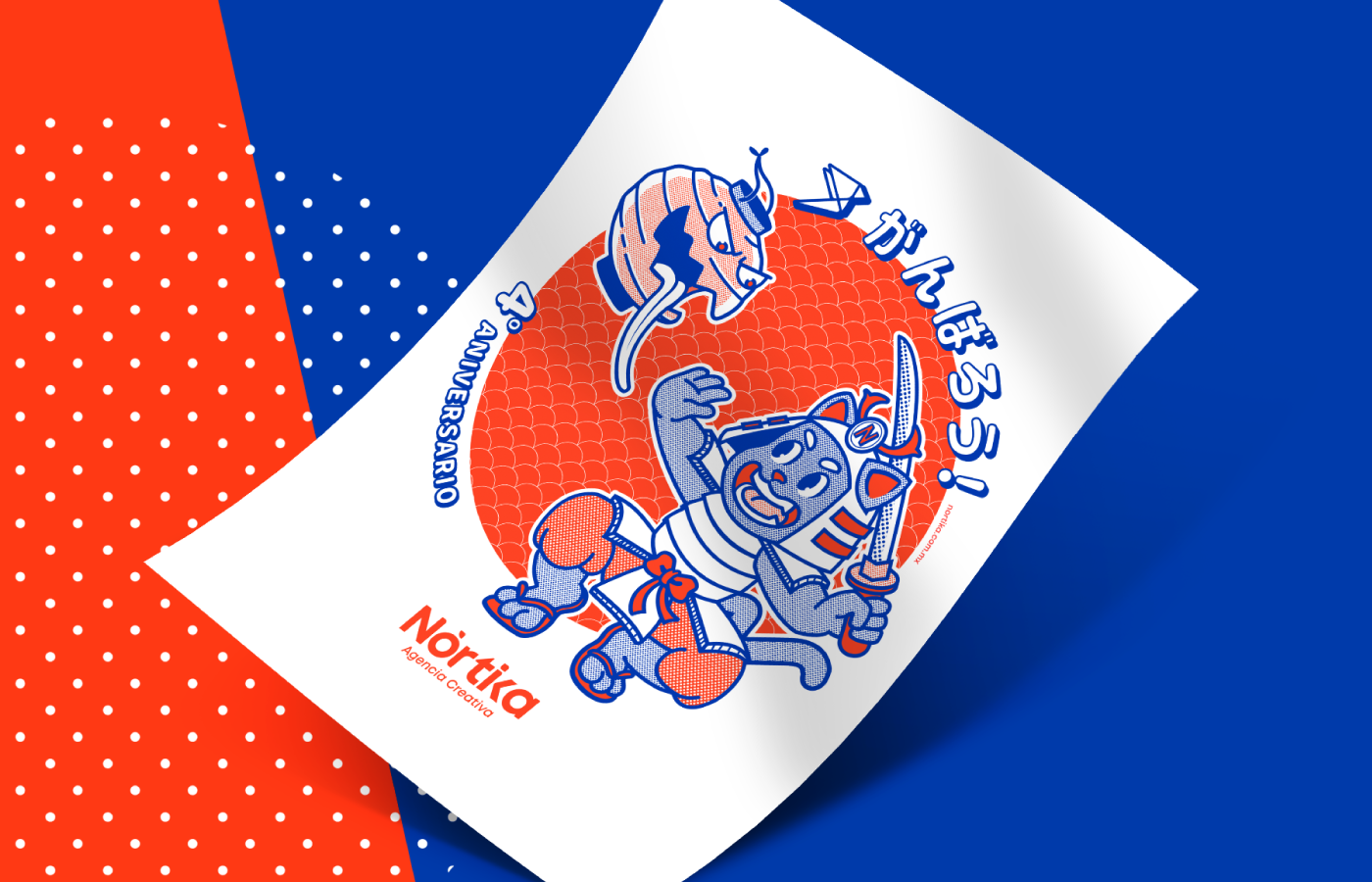 ILLUSTRATION  Digital Art  Retro manga japanese branding  souvenir Cat samurai yokai
