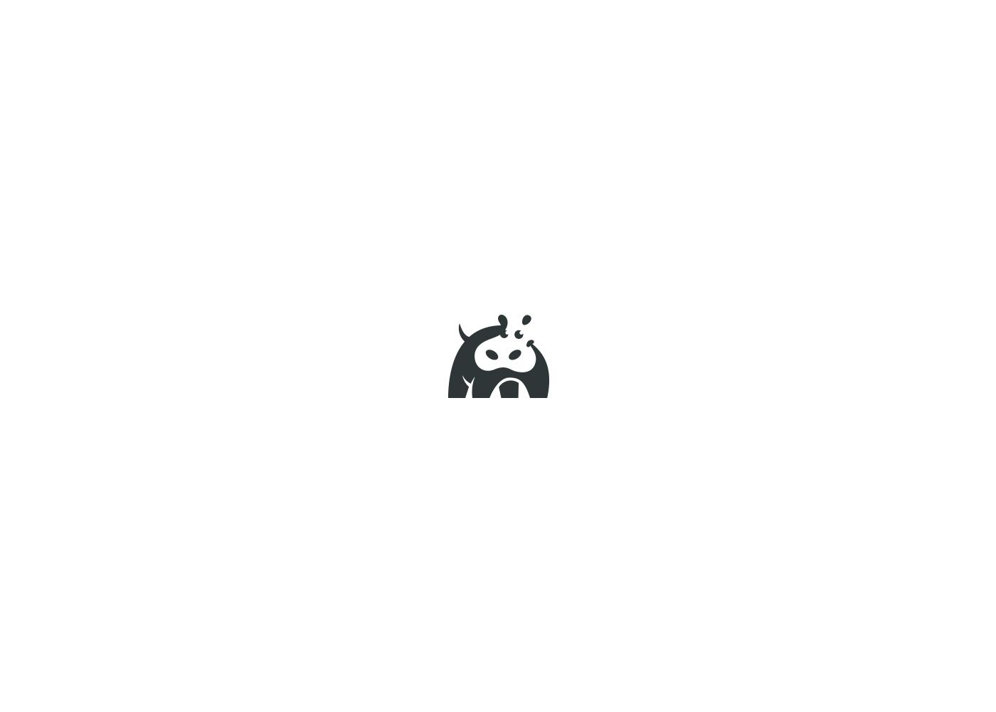 negative space Logo Design brand identity logo animals symbols animal hippo giraffe eagle bear zebra Kreatank creatank creative