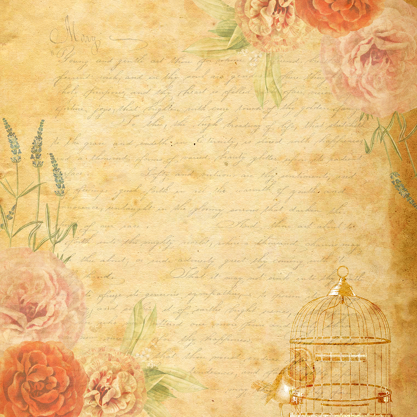 Vintage Floral Background Free