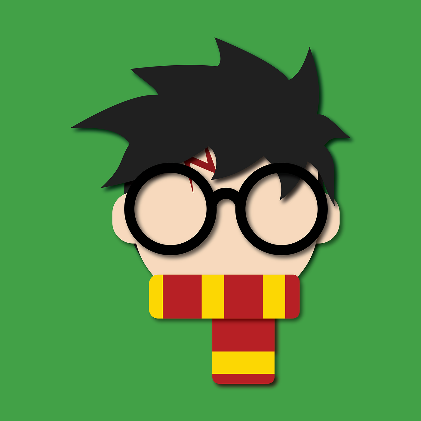 Character Design Icon : Harry potter flat icon on behance