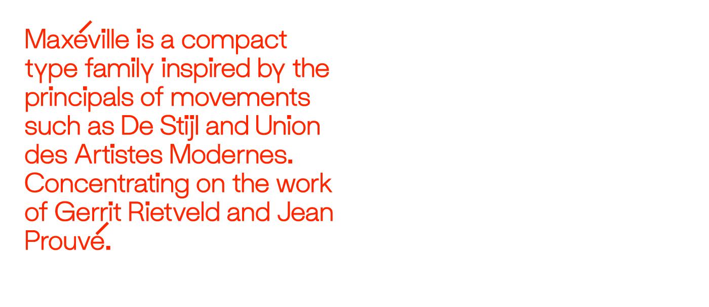 typography   Typeface font type Rietveld Jean Prouvé modernism sans
