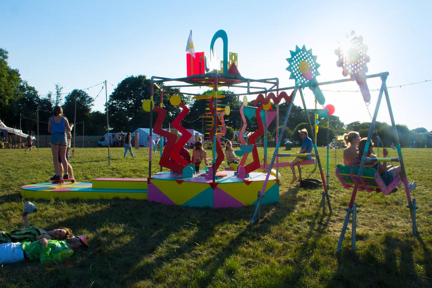 Playground installation interactive colour festival branchild copeland park sculpture Collaboration