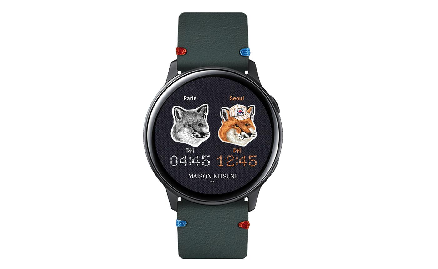MRTIME watchface Smart watch ux UI portfolio Digital Contents Wearable masion kitsune