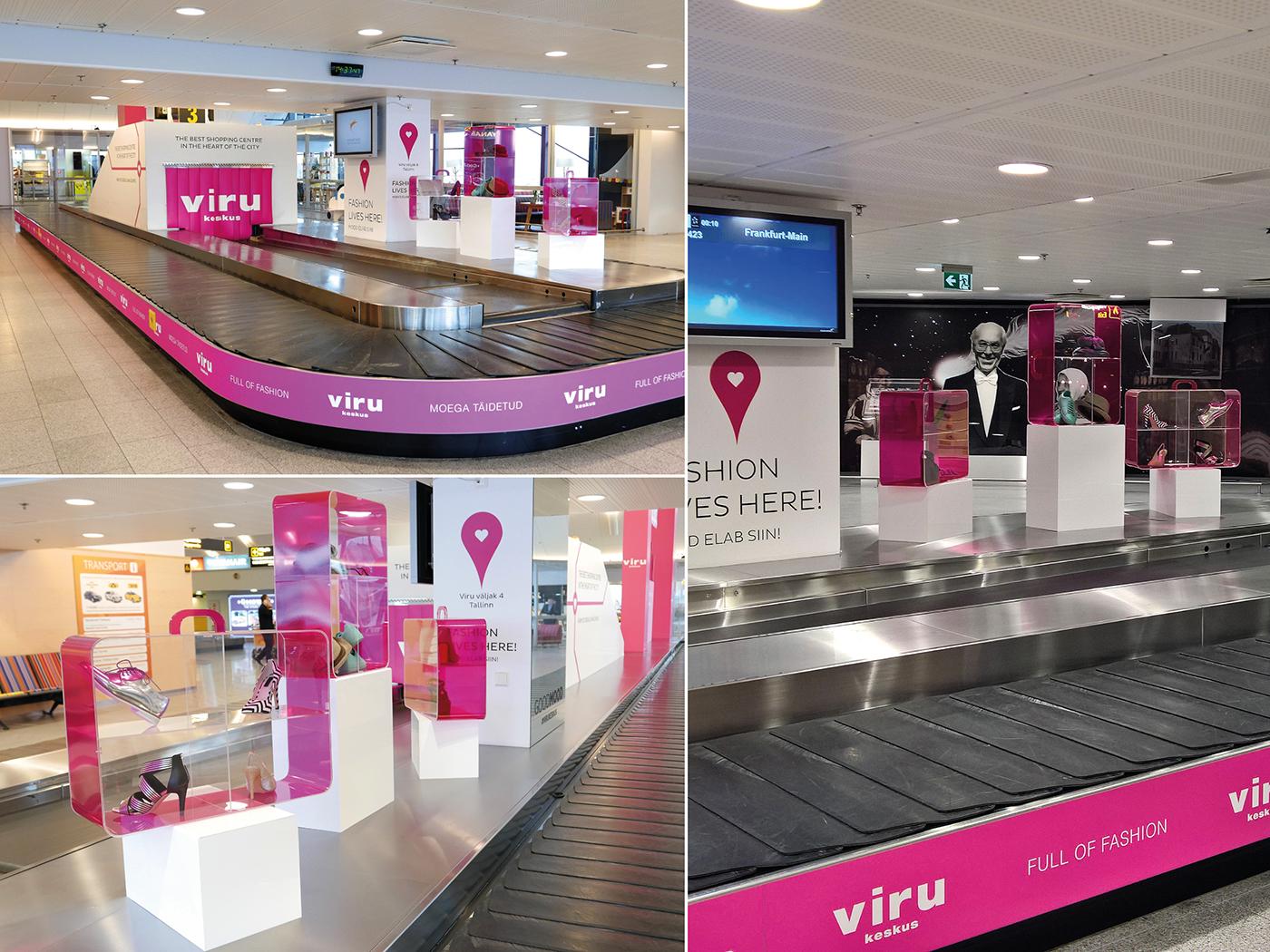 Ambient Fashion  airport plexiglass ambient advertising fashion advertising high-fashion Airport Advertising