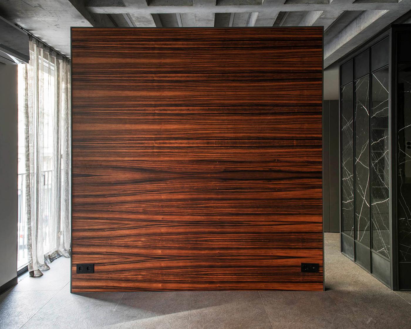 Natural ebony wood textured background stock photo