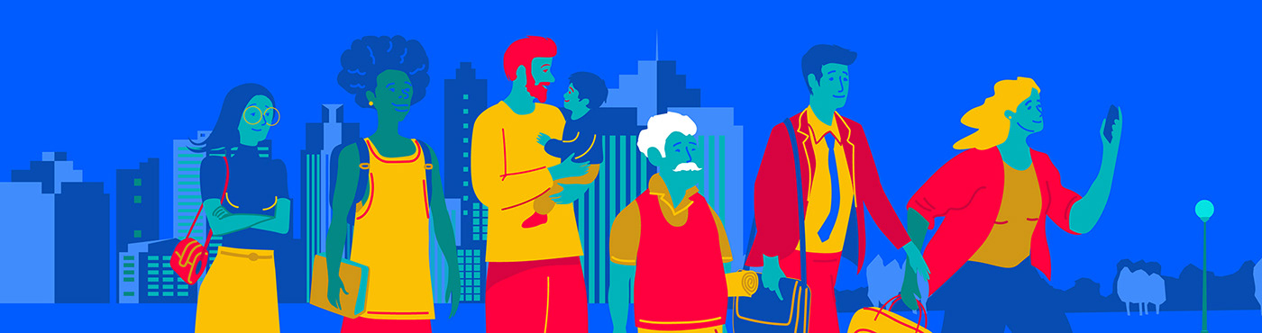 ArtDirection campaign characters chile ILLUSTRATION  Keyvisual notaria notary people Santiago