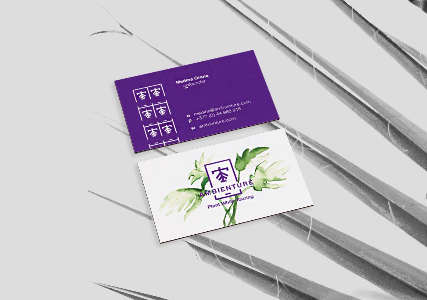 Web branding  logo ILLUSTRATION  watercolors Nature business card print poster plants