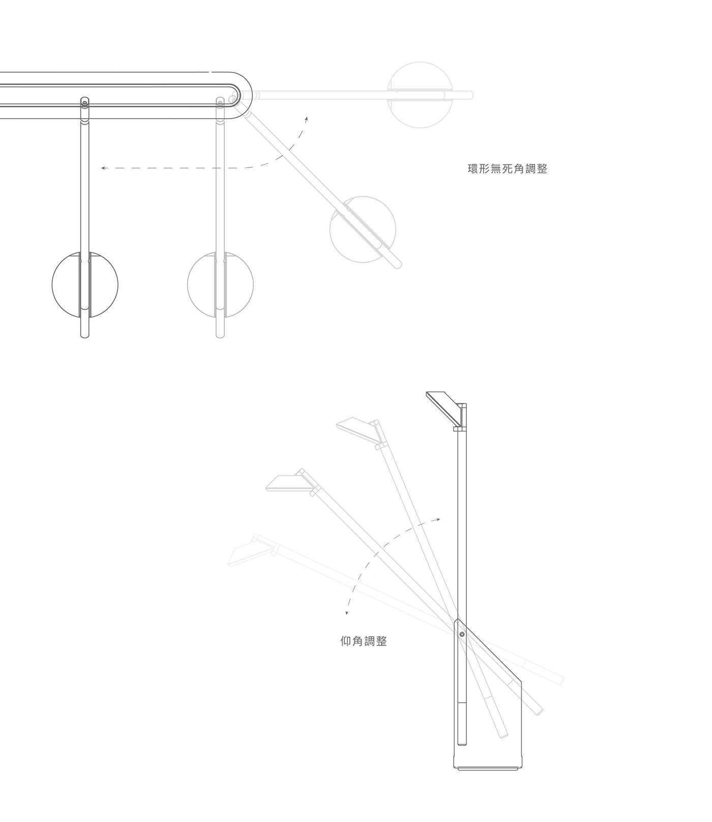 Innovative Lamp loop product desktop illumination Laptop led light lighting