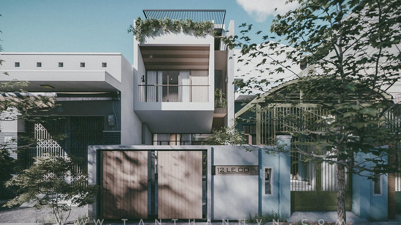 contemporary house HOUSE DESIGN nha pho thiết kế nhà phố