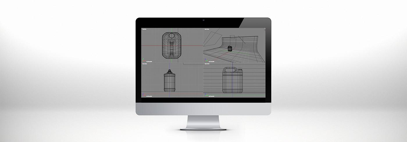 3D Tank Mockup product Render blender mock up