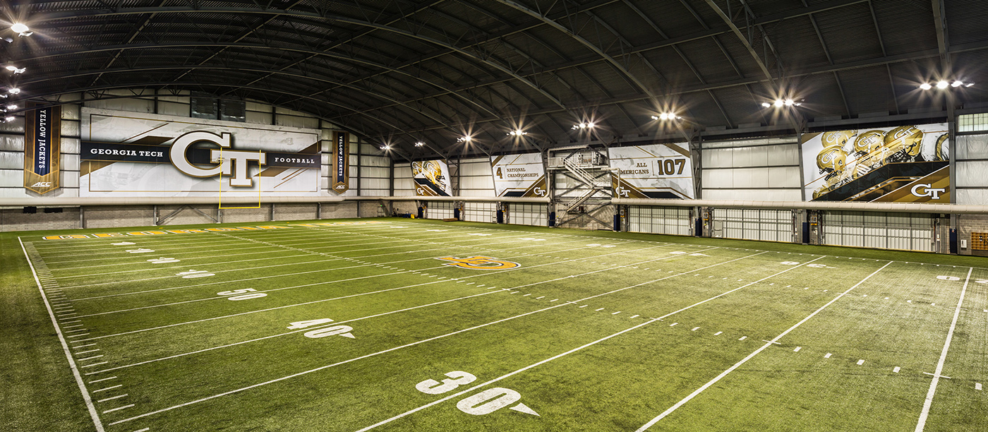 Georgia Tech - Indoor Football Facility on Behance