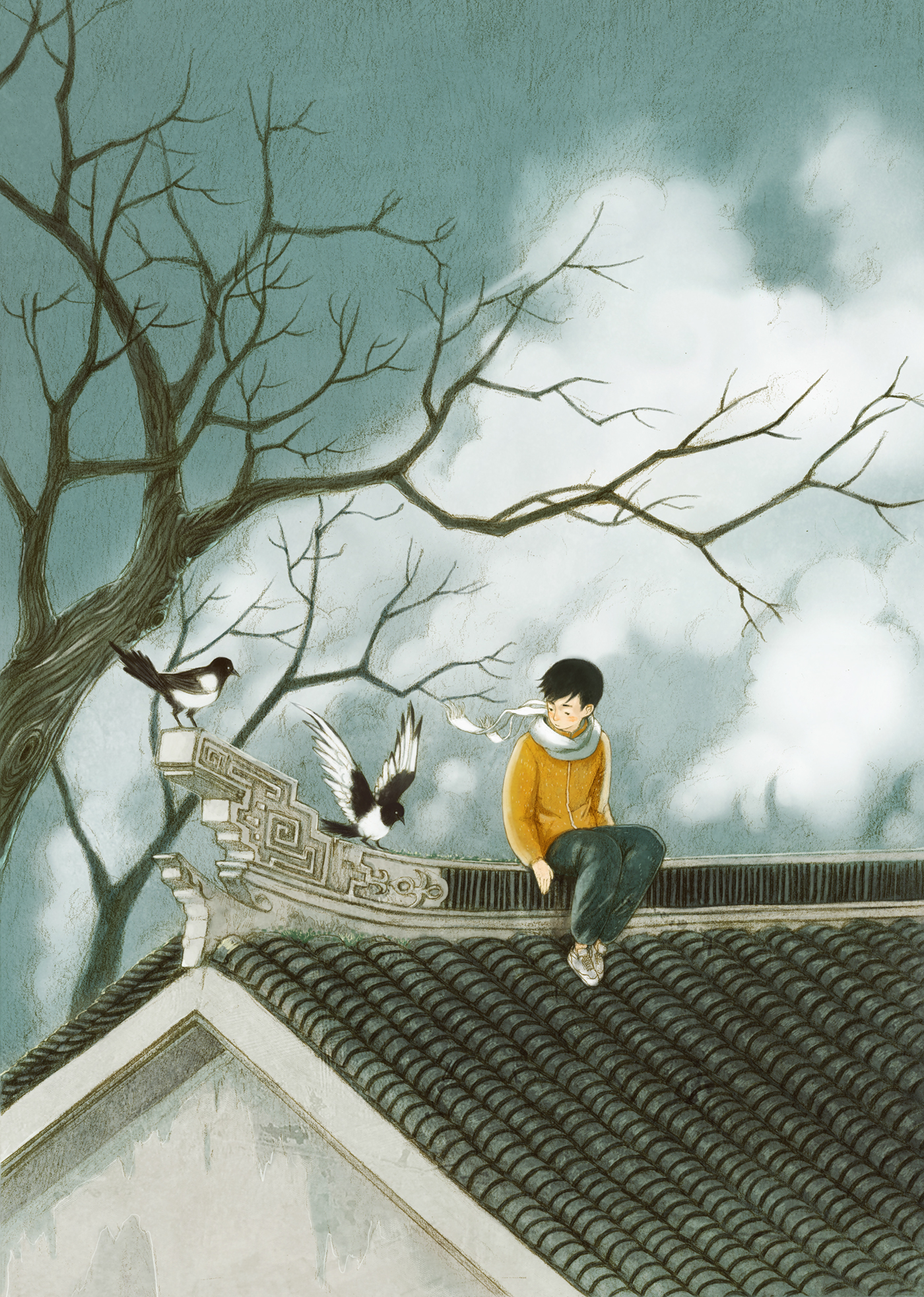 Beautiful Storybook Illustrations of People Communing with Nature by Jin Xingye