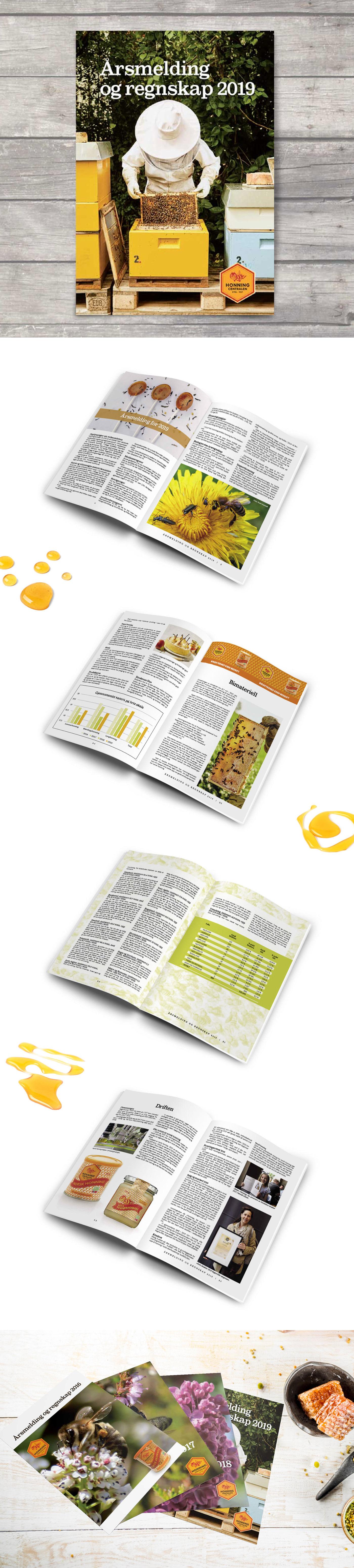 Bier bildebehandling design førtrykk honning honningcentralen Layout norway Tidsskrift trykksak
