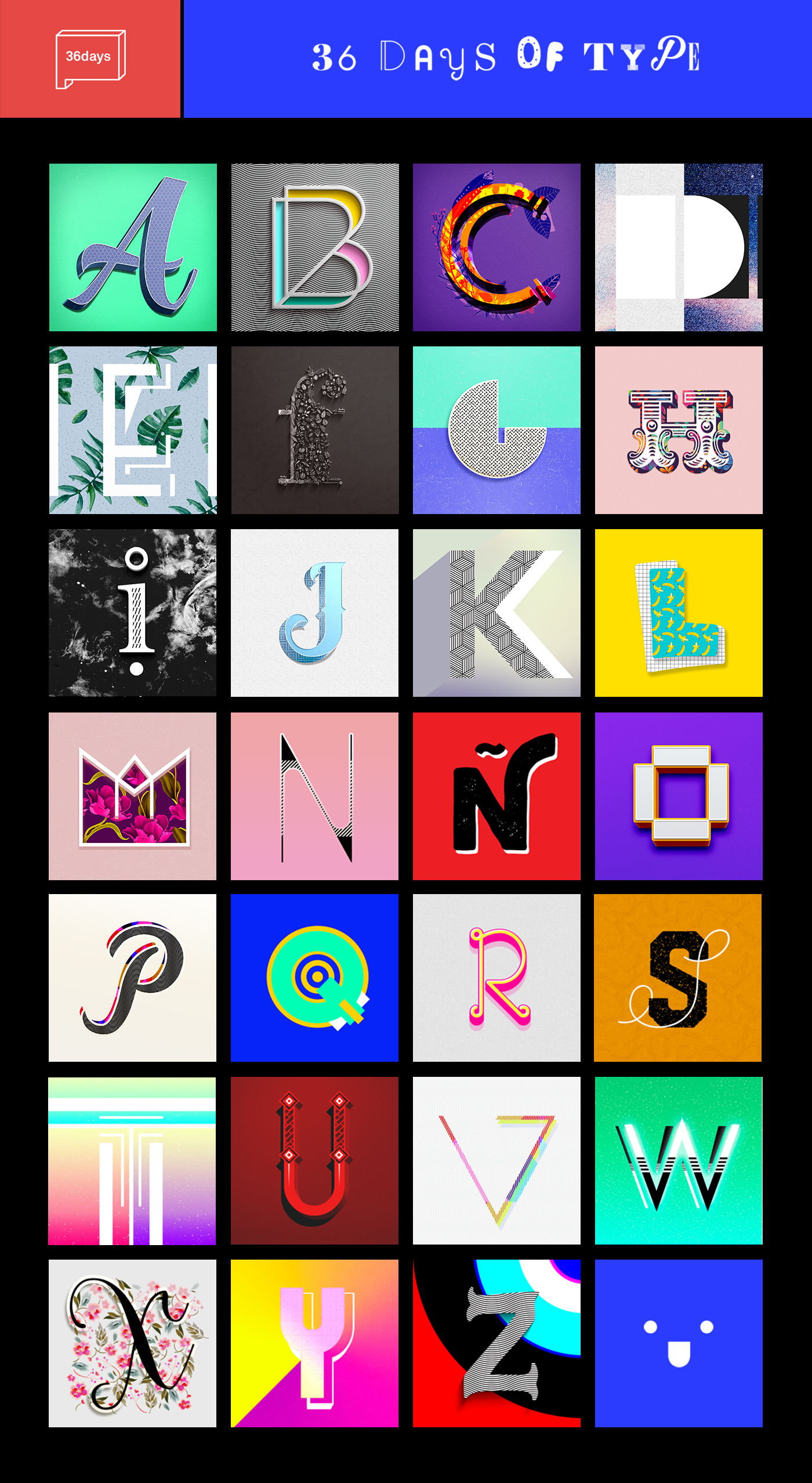 type lettering pattern color alphabet 36daysoftype texture colorful eclectic typography