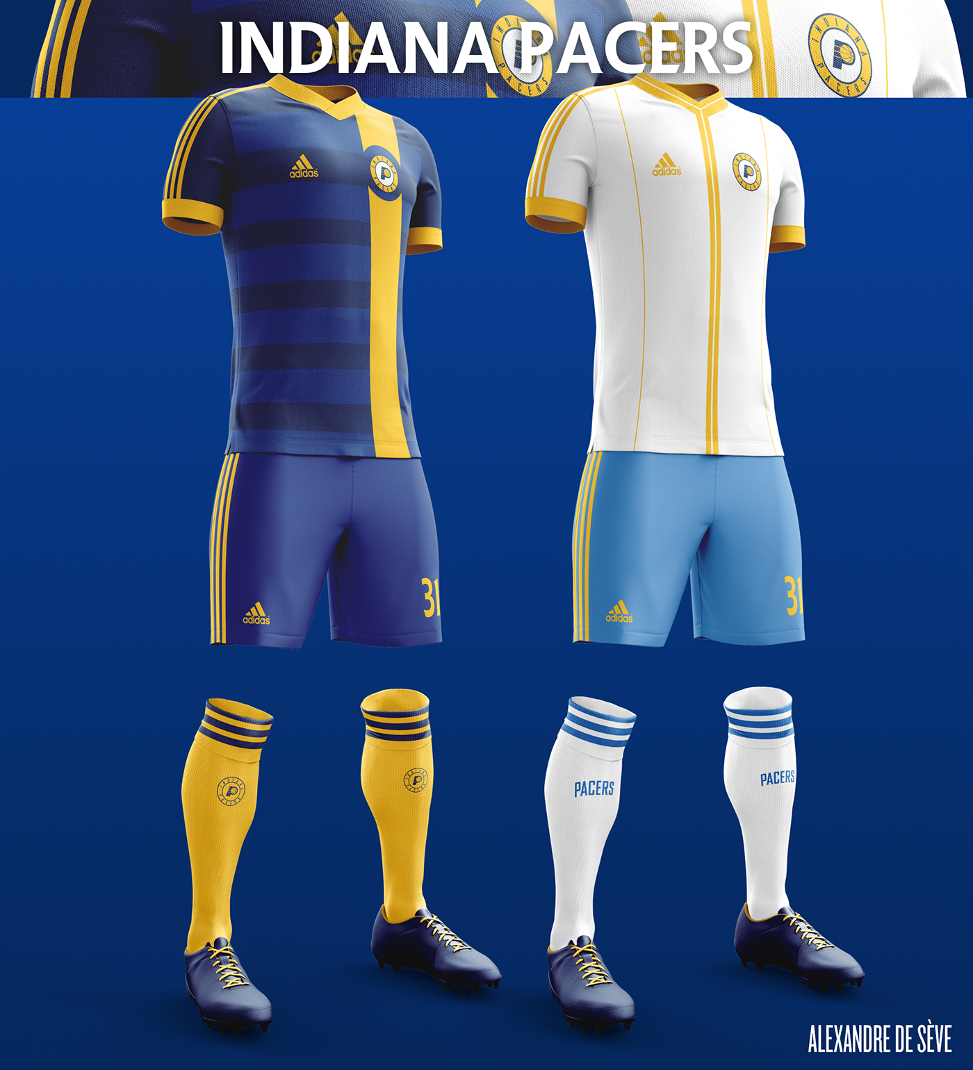 Talisman & Co. | Indiana Pacers Soccer Concept Kit