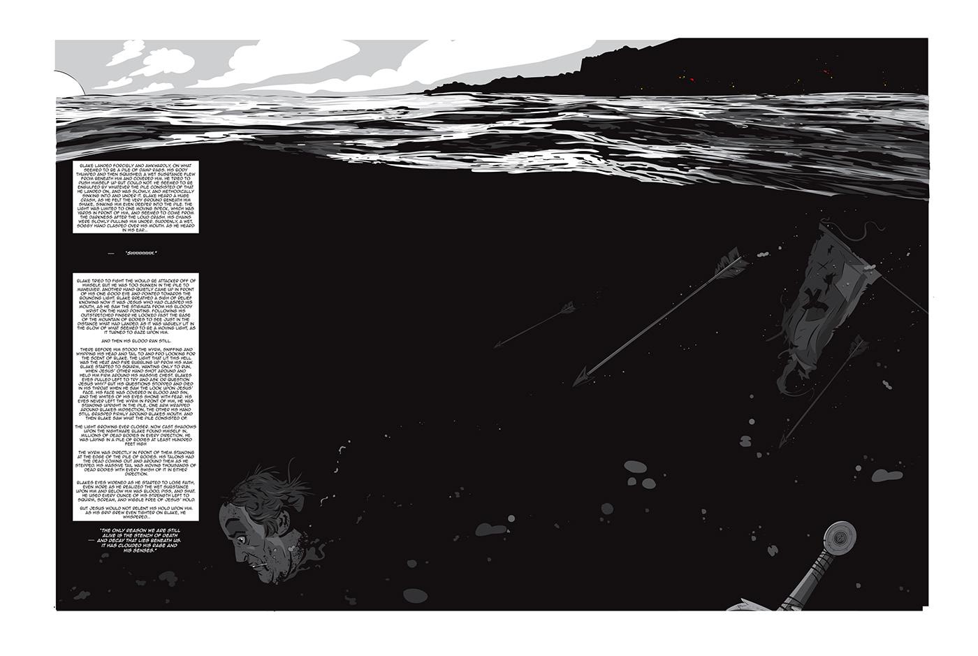 Comic Book God ILLUSTRATION  pages War