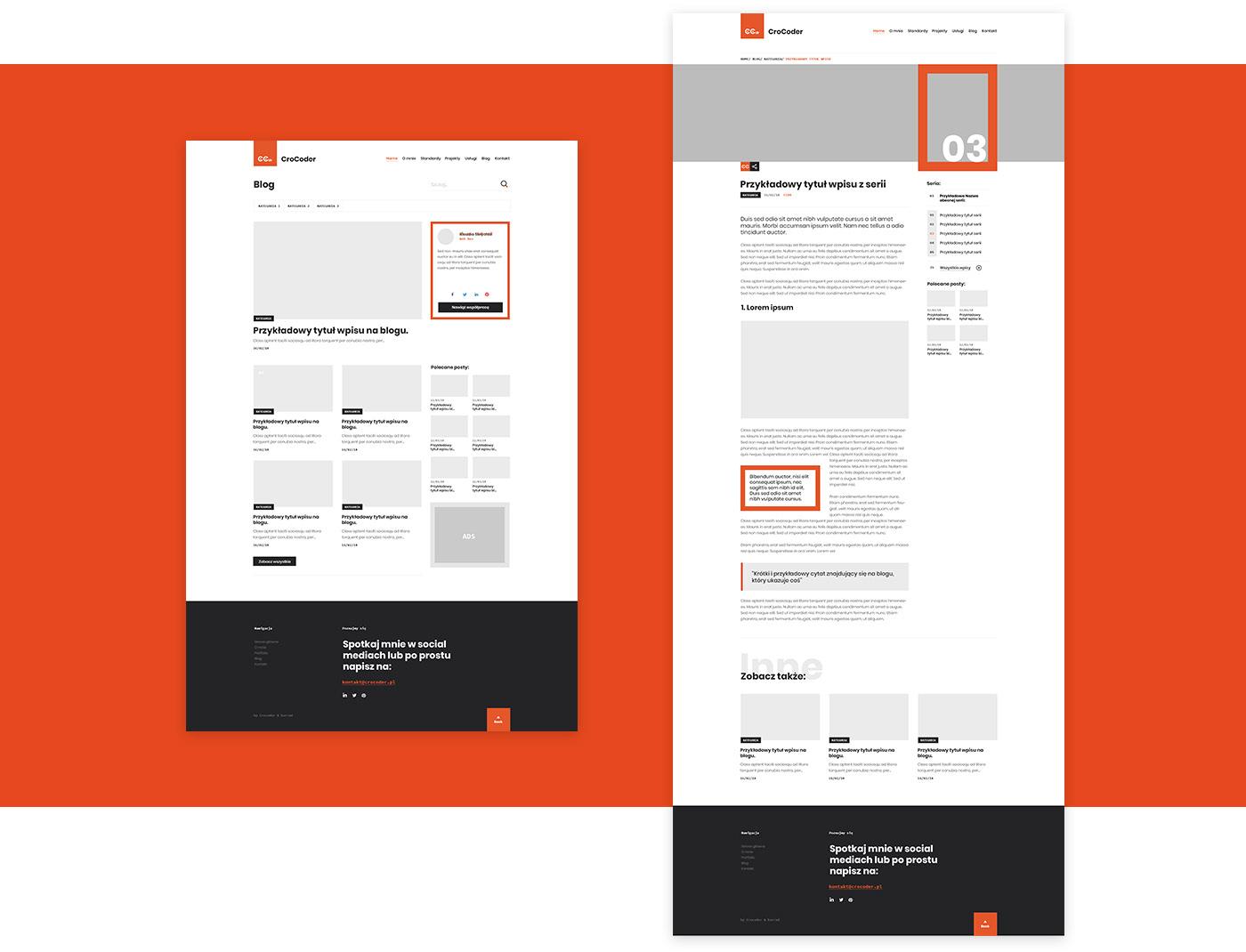 Web Technology Website www portfolio Blog Webdesign webdev red clean