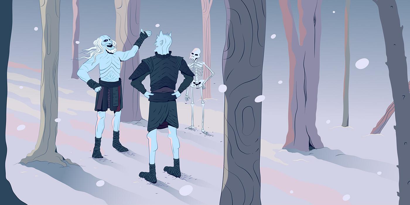 Game of Thrones Jon Snow lannister vector sketch HuffPost got white walker Fan Art hbo
