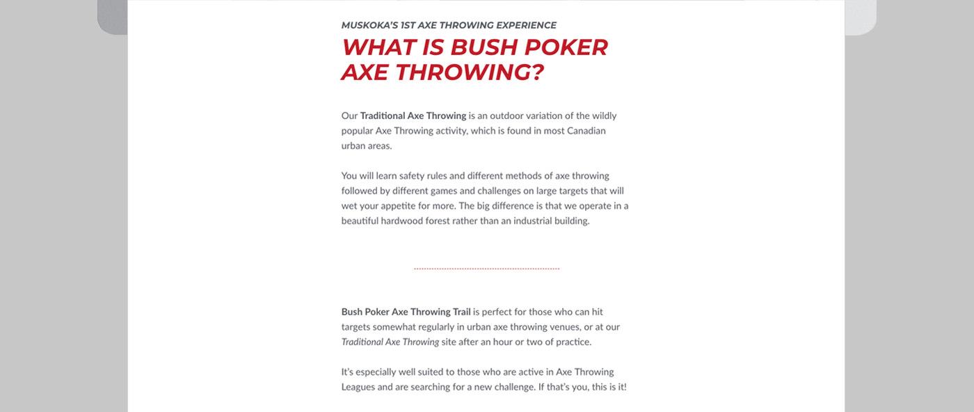 Poker axe brand Web marca diseño graphic desing