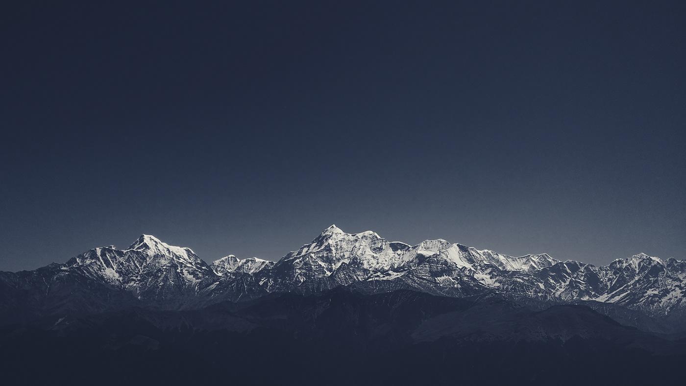 The Himalayas from Uttarakhand, India