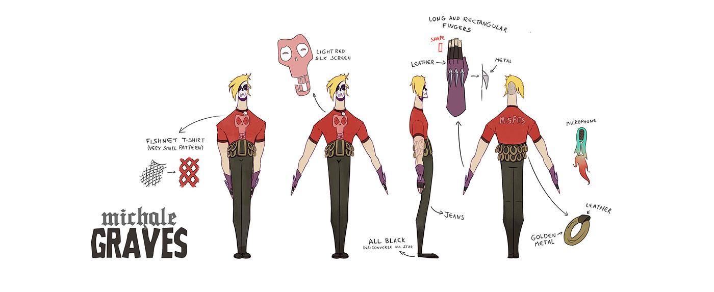 Character design  Character misftis punk band ILLUSTRATION