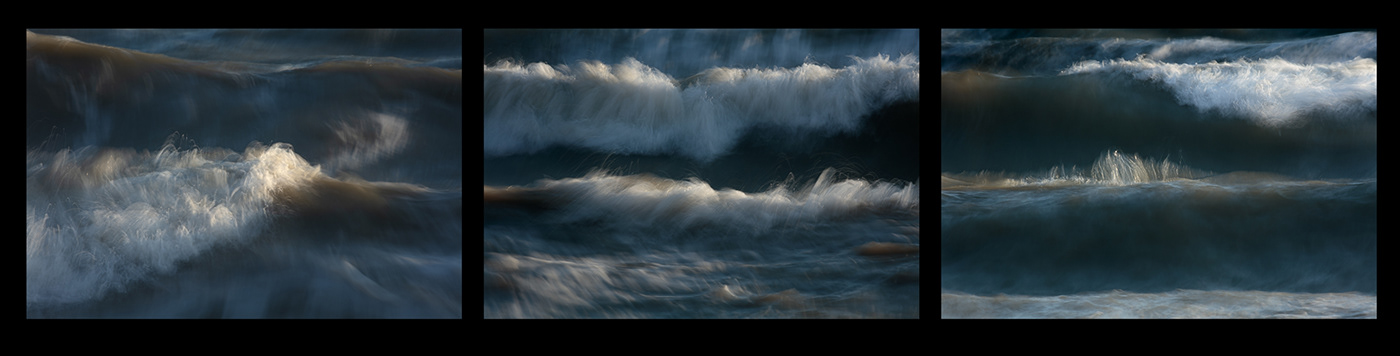 Painterly photographs of waves