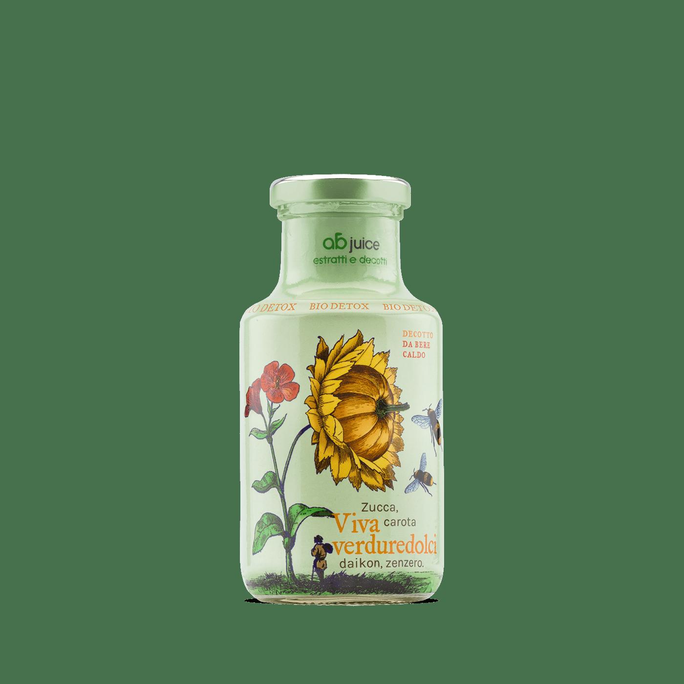 sleeve juice bottle illustrated Label