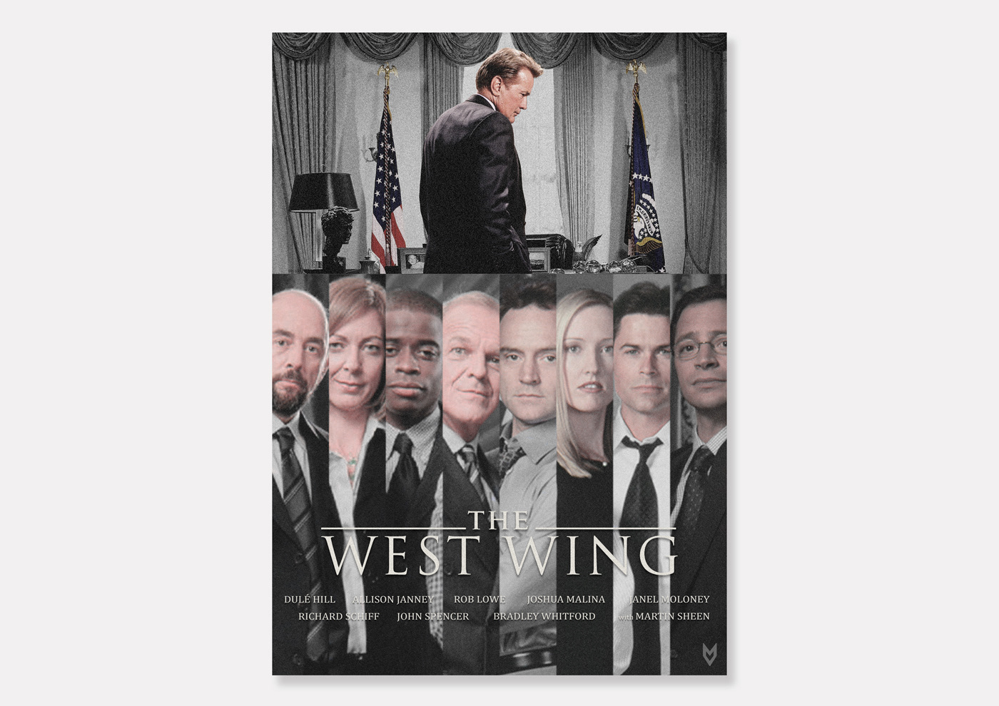 cartel fan poster graphic design  poster television the west wing tv tv poster