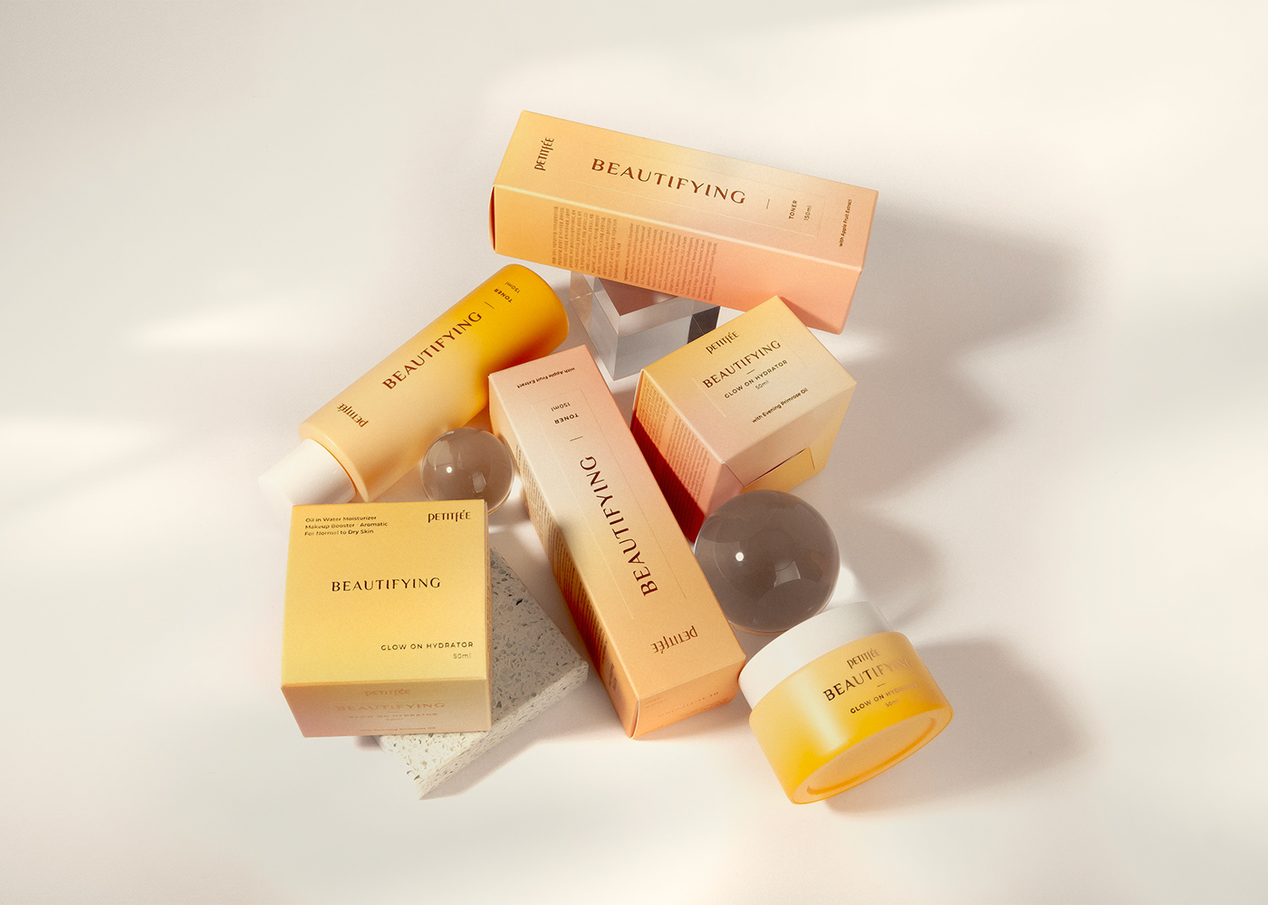 Cosmetic package package design  skincare